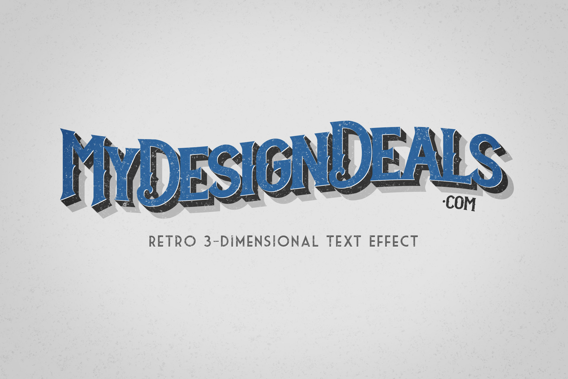 How To Create A Retro 3 Dimensional Text Effect In Photoshop