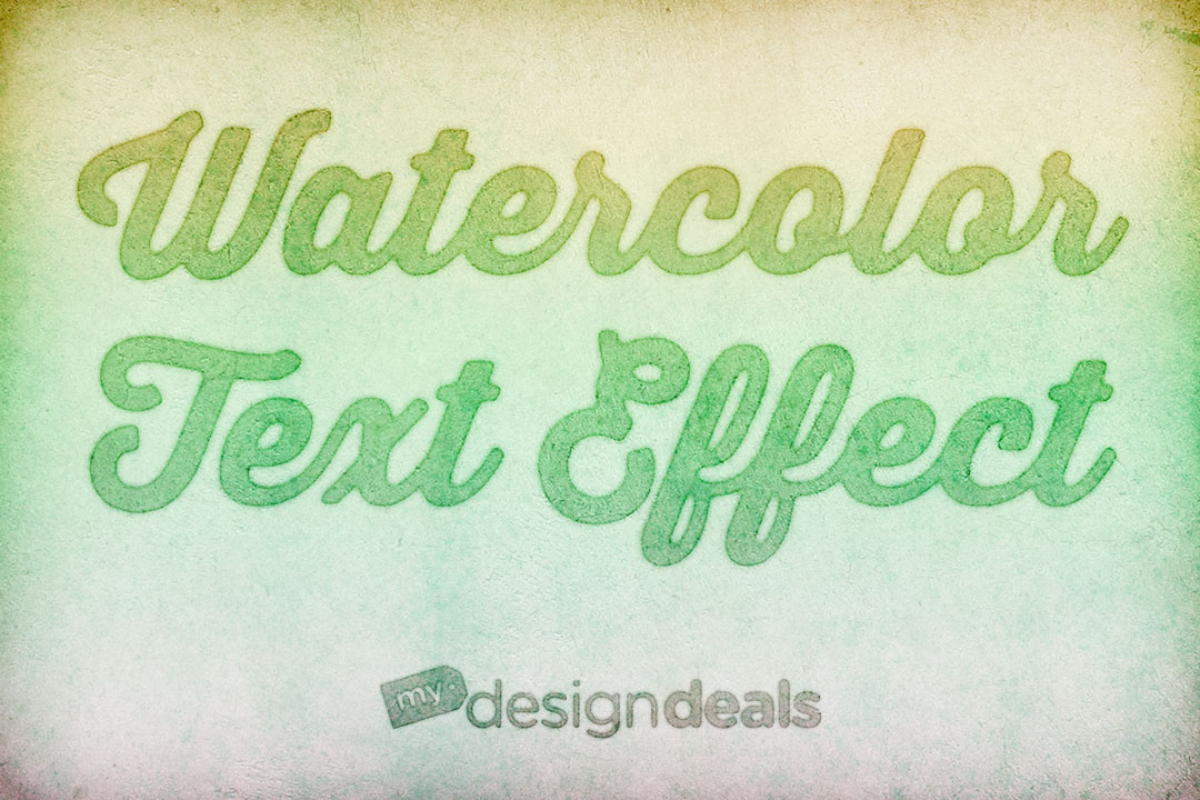 How to Create a Quick and Easy Watercolor Text Effect in Photoshop ...