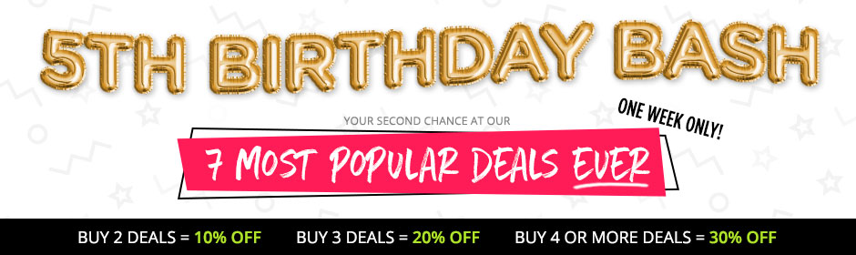 5th Birthday Bash Sale Banner