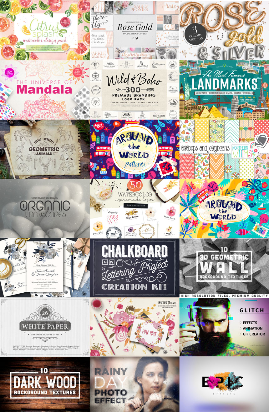 Modern Designers Collection Collage