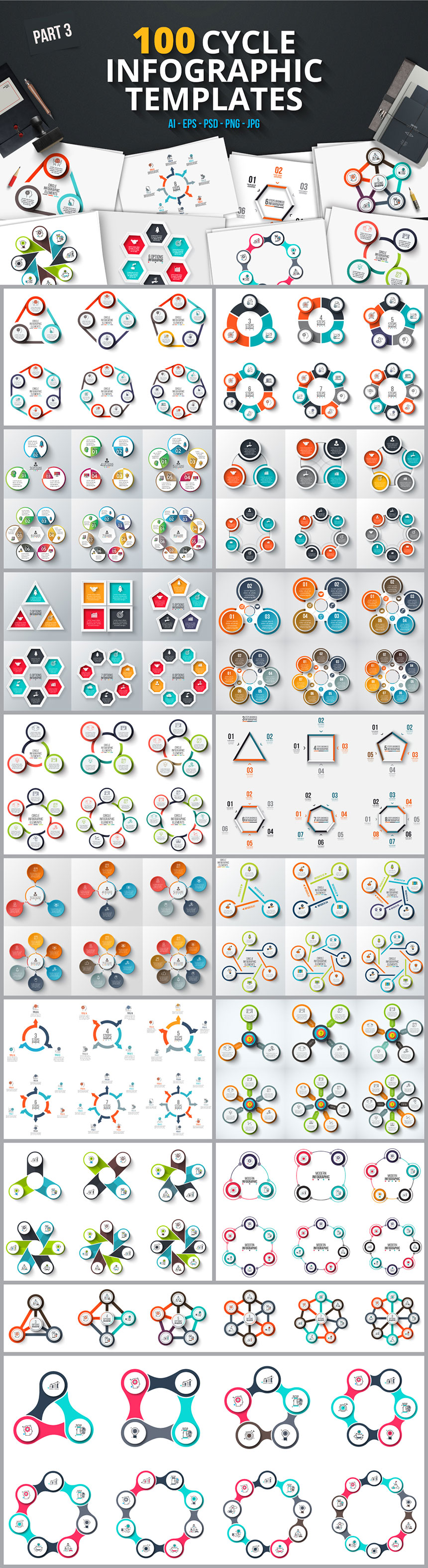 800 Infographic Templates for Illustrator and Photoshop – MyDesignDeals