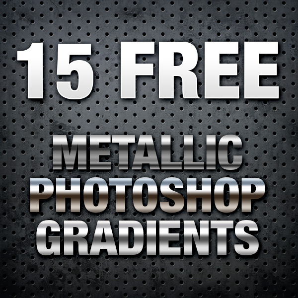 15 Free Metallic Photoshop Gradients