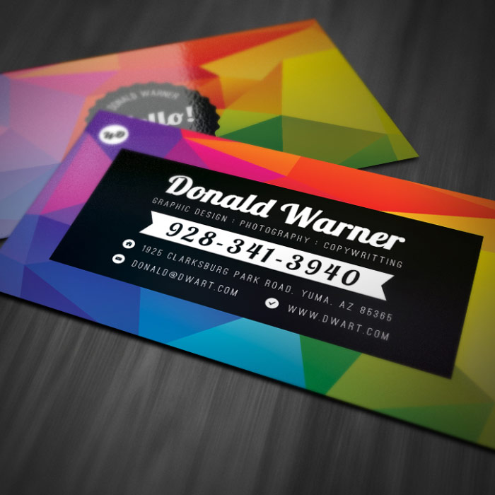 Colorful Explosion Business Card Template