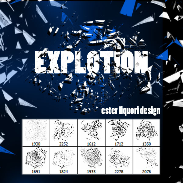 Explosion Photoshop Brush Set