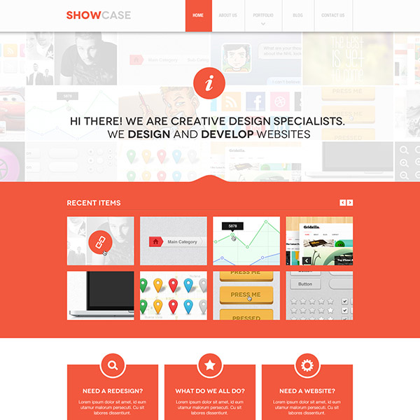 Showcase PSD Theme
