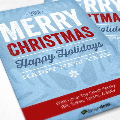 Typographic Christmas Card Template