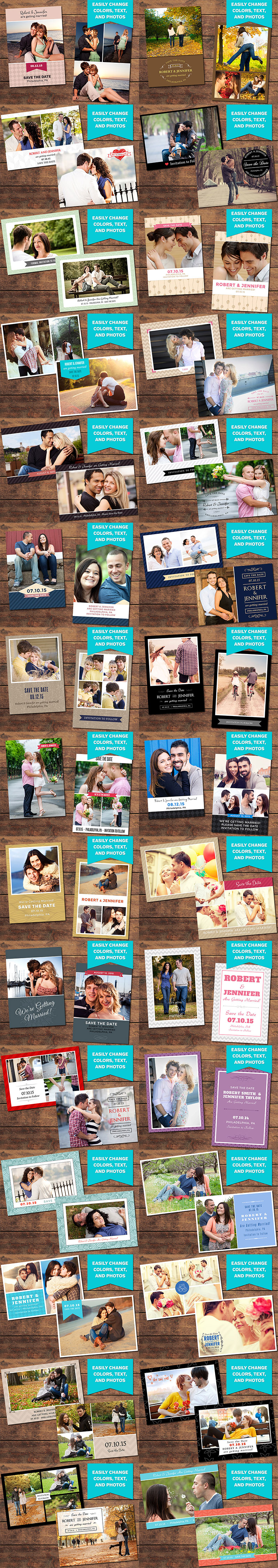 The Complete Wedding Design Photography Package Only - Make your own save the date cards templates