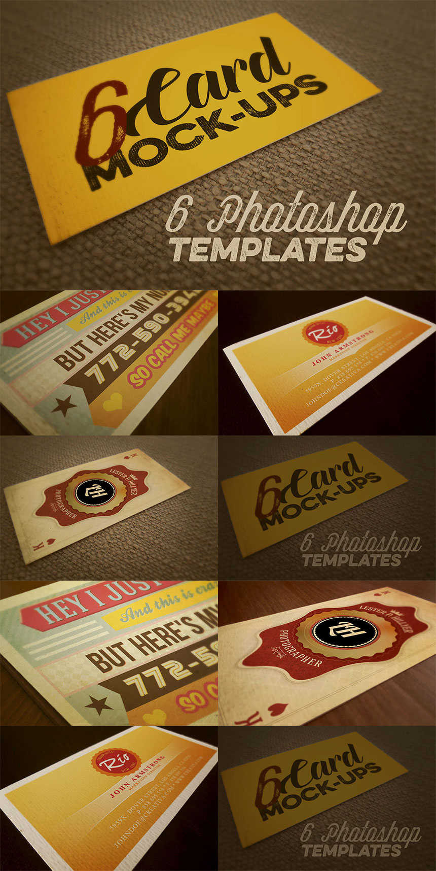 The most monstrous mockups bundle of all time only 39 mydesigndeals 6 photoshop business card mockup templates reheart Images