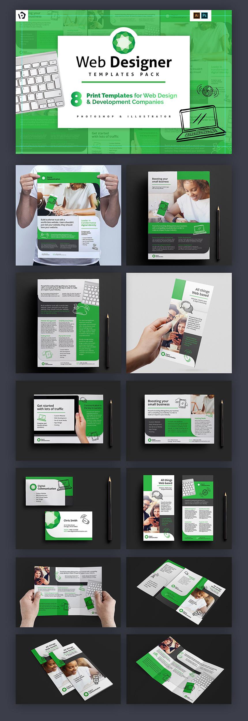 The Ultimate Freelancers Print Bundle Only MyDesignDeals - Web design flyer template
