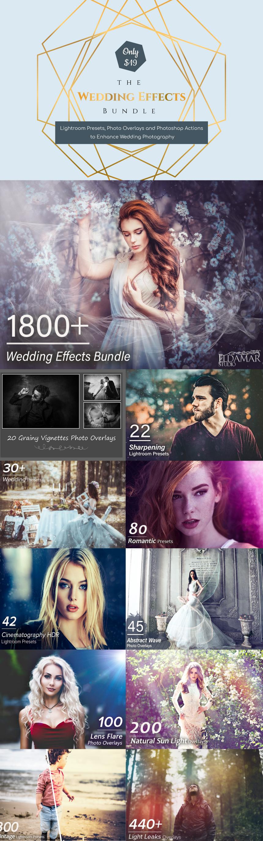 The Wedding Effects Bundle - Enhance Wedding Photography